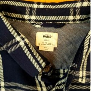 Vans Shirts - Vans Off The Wall Plaid Button Front